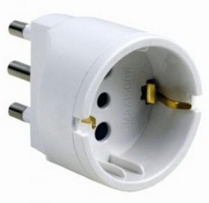 MAURER Adattatore Semplice Spina Presa Schuko 16A Materiale Elettrico Civile