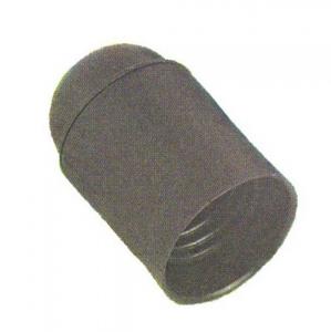 Portalampada E 27 Liscia Nero Pz 2 Materiale Elettrico