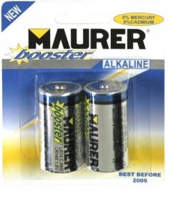 MAURER Set 10 Batterie Alcaline 1.2 Torcia 1,5V Pz 2 Materiale Elettrico