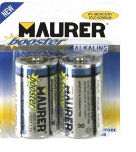 MAURER Set 10 Batterie Alcaline Torcia 1,5V Pz 2 Materiale Elettrico