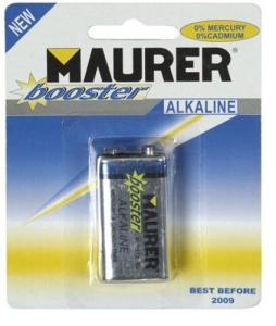 MAURER Set 10 Batterie Transistor Alcaline 9V Pz 1 Materiale Elettrico