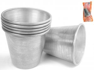 VESPA Confezione 6 formine alluminio babà cm6x632 Pasticceria e Cake Design