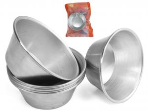 VESPA Confezione 6 formine alluminio timball 7.5x3 Pasticceria e Cake Design