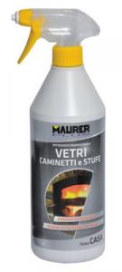 MAURER PLUS Detergente Vetri Caminetti Stufe Ml750 Colori Pulizia Casa