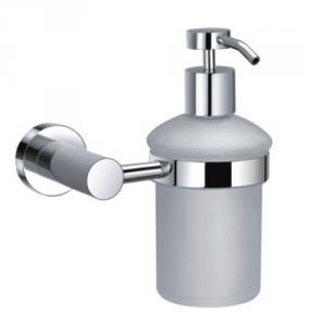 MAURER Dispenser Sapone Cromato Con Vetro Opaco Idraulica Arredo Bagno