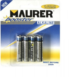 MAURER Set 10 Batterie Alcon Stilo Extra Power 1,5V Pz 4 Materiale Elettrico