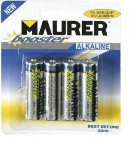 MAURER Set 10 Batterie Alcon Mini Stilo Extra Power 1,5V Pz 4 Materiale Elettrico