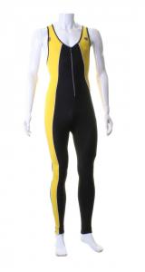 BRIKO VINTAGE Salopette sci fondo donna OLYMPIC M DC nero giallo OA4976--52