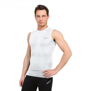 BRIKO Canotta compressione muscolare uomo intimo sportivo bianco 100068