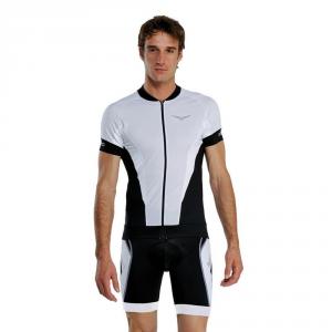 BRIKO Maglia ciclismo spinning maniche corte uomo PROKARBON nero bianco 100134
