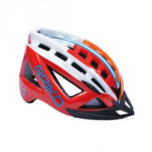 BRIKO Casco ciclismo e mountain bike unisex 5.0 rosso arancio bianco 100529