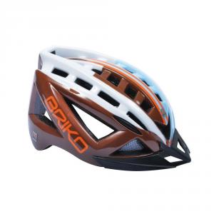 BRIKO Casco ciclismo e mountain bike unisex 5.0 marrone bianco celeste 100529