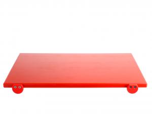 BERTOLI Tagliere plastica rosso con batterie 60x40x2 Utensili da cucina
