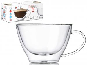 BORMIOLI LUIGI Conf. 2 tazze cappuccino senza piatto borosilicato duos Arredo tavola