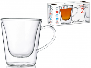BORMIOLI LUIGI Conf. 2 tazze tè senza piatto borosilicato duos Arredo tavola