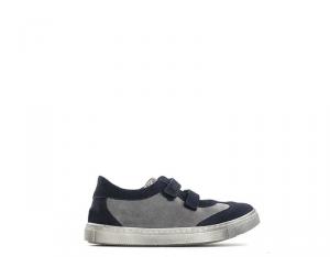 BYBLOS DUCATI Sneakers Trendy bambini grigio/blu con tomaia scamosciata Unisex