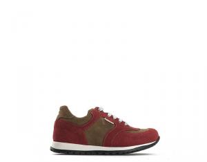 BYBLOS DUCATI Sneakers Trendy bambini rosso con tomaia in scamosciato Unisex