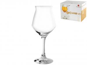 BORGONOVO Confezione 6 calici in vetro birra sommelier cl40 Arredo Tavola