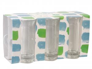 BORGONOVO Confezione 6 bicchieri in vetro polo con manico Arredo tavola