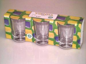 BORGONOVO Confezione 3 bicchieri in vetro vienna cl 13.5 Arredo tavola