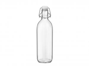 BORMIOLI ROCCO Set 6 Bottiglia Vetro Emilia Lt 1 Tappo Bianco