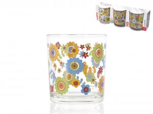 CERVE Confezione 3 Bicchiere Vetro Giava Acqua 22