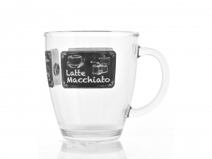 CERVE Mug Vetro Decoro Latteria Cc380