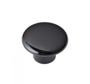 Set 25 Pomolo Plastica Nero Mm 32 Con Viti Ferramenta Accessori Per Mobili