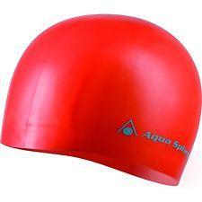 ACQUA SPHERE Cuffia nuoto piscina unisex 100% silicone CLASSIC rosso 159-400