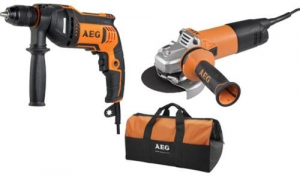 AEG Kit Trapano Sbe750Re+Smer.Ws10-115S Utensileria