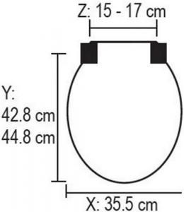 CARRARA e MATTA Sedile Legno Quadrarco 1 Bianco Idraulica