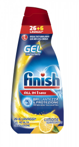 FINISH Powergel Tutto In Uno Lemon - 650 Ml Gel Lavastoviglie Detersivi