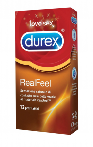 DUREX REAL FEEL 12 profilattici ipoallergenici Condom Preservativi contatto pelle