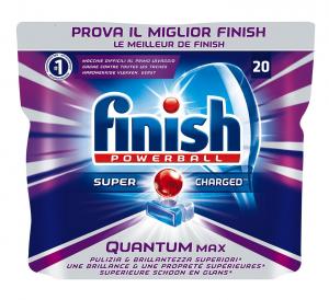 FINISH Quantum Max 20 Tabs Pastiglie Lavastoviglie Regular - 310 Gr Detersivi