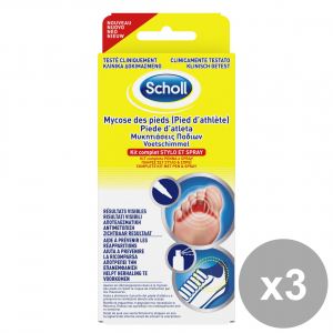 Set 3 SCHOLL Kit completo Penna e Spray per PIEDE D'ATLETA Cura piedi e mani Pedicure