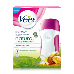 VEET Ceretta Easy Wax Kit Natural Inspirations Fiore Tiarè & Argan Oil
