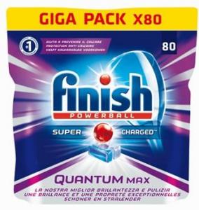 FINISH Quantum Max 80 Regular Gr.1240 Tabs Pastiglie Lavastoviglie Detersivi