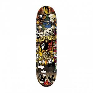 'ROCES Skateboard Adulto  31X8'' Indian  In Acero Porcellana 9 Strati Abec 1 Acciaio - 30515'