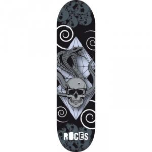 'ROCES Skateboard Adulto  31X8'' Snake&Skull In Acero Porcellana 9 Strati Abec 3 - 30672'
