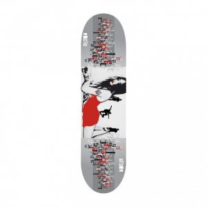 'ROCES Skateboard Adulto  31X8'' Sexy Park  In Acero Porcellana 9 Strati Abec 3 Carbon - 31036'