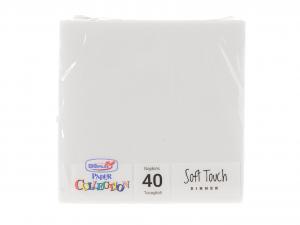 DOPLA Confezione 40 Tovaglioli Soft 2 Veli 38X38 Bianco