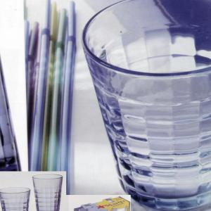 DURALEX Set 12 x 4 bicchieri in vetro prisme marine cl17 Arredo tavola