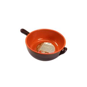 DE SILVA Casseruola 1 manico ceramica marrone 24x8,5 Pentole Cucina