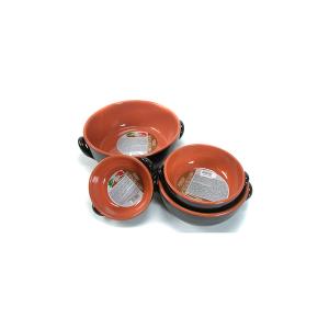 DE SILVA Casseruola 2 manici ceramica marrone cm24x8 Pentole Cucina