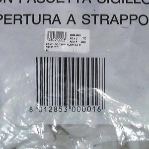 STELPLAST Confezione 100 tappi plastica brevettati Bottiglie Arredo tavola