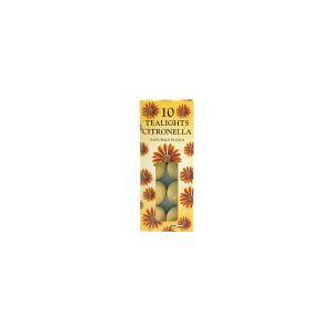 FEM Confezione 10 tealights citronella Candele e decorazioni casa