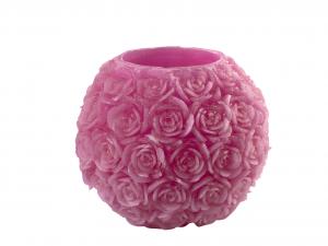 H&H Lanterna Cera Rose Fucsia Cm20 Luci E Decorazioni Casa
