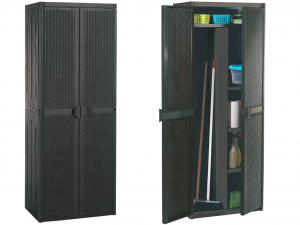 GENSINI Mobile porta scope rattan 65x45x172 Attrezzi per le pulizie