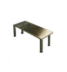 Panchina acciaio Inox Aisi 304 2 Posti Piedini Regolabili Nylon 100X40X45H