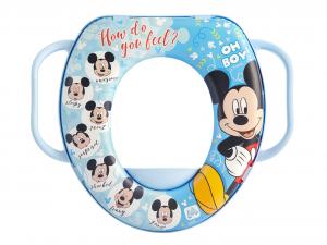 LULABI Riduttore Wc Disney Mickey 3 con Manico Plastica e Pvc Made in Italy